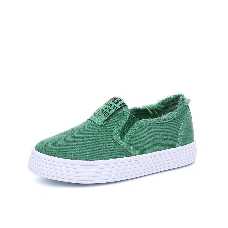 New Low Sail Men and Women Children's Canvas Shoes Casual White