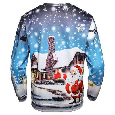 Mens Santa Clause Pullover SweatshirtMens Hoodies &amp; Sweatshirts<br>Mens Santa Clause Pullover Sweatshirt<br><br>Material: Polyester<br>Package Contents: 1 x Sweatshirt<br>Shirt Length: Regular<br>Sleeve Length: Full<br>Style: Fashion<br>Weight: 0.3000kg