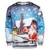 Men's Santa Clause Pullover Sweatshirt - BLUE