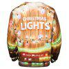 Christmas Lamp Print Pullover Sweatshirt - YELLOW