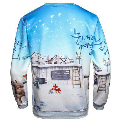 Christmas Santa Snowflake Pullover SweatshirtMens Hoodies &amp; Sweatshirts<br>Christmas Santa Snowflake Pullover Sweatshirt<br><br>Material: Polyester<br>Package Contents: 1 x Sweatshirt<br>Shirt Length: Regular<br>Sleeve Length: Full<br>Style: Fashion<br>Weight: 0.3000kg