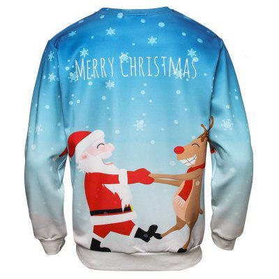 Christmas Santa Clause and Elk Printed SweatshirtMens Hoodies &amp; Sweatshirts<br>Christmas Santa Clause and Elk Printed Sweatshirt<br><br>Material: Polyester<br>Package Contents: 1 x Sweatshirt<br>Shirt Length: Regular<br>Sleeve Length: Full<br>Style: Fashion<br>Weight: 0.3000kg