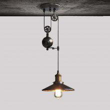 YouOKLight E27 Nordic Vintage Pendant Light Loft Pulley Lift Droplight AC 85V - 265V