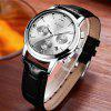 LIGE 9817-2 4827 Popular Leather Band Quartz Movement Men Watch with Box - BLACK WHITE