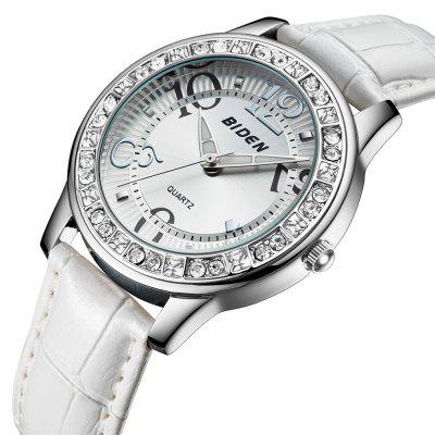 BlDEN 0010 4807 Fashion Crystal Embedded Dial Women Leather Watch with BoxWomens Watches<br>BlDEN 0010 4807 Fashion Crystal Embedded Dial Women Leather Watch with Box<br><br>Band material: Leather<br>Band size: 24 x 1.8cm<br>Brand: BIDEN<br>Case material: Alloy<br>Clasp type: Pin buckle<br>Dial size: 3.8 x 3.8 x 1.1cm<br>Display type: Analog<br>Movement type: Quartz watch<br>Package Contents: 1 x Watch, 1 x Box<br>Package size (L x W x H): 28.00 x 8.00 x 3.50 cm / 11.02 x 3.15 x 1.38 inches<br>Package weight: 0.0700 kg<br>Product size (L x W x H): 24.00 x 3.80 x 1.10 cm / 9.45 x 1.5 x 0.43 inches<br>Product weight: 0.0400 kg<br>Shape of the dial: Round<br>Watch mirror: Mineral glass<br>Watch style: Classic, Fashion, Casual<br>Watches categories: Women<br>Water resistance: Life water resistant