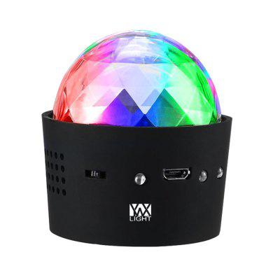 YWXLight 3W Mini Portable USB Music Sound Control RGB Stage Lights