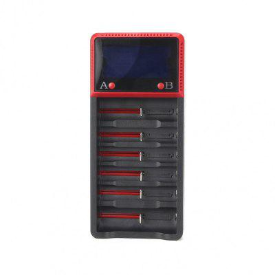 UltraFire H6 LCD Screen 6 - SLOT US Standard Multi-Function Universal Lithium Battery Charger AC 100 - 240V