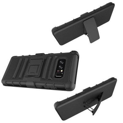 Soldier Clip Triple Armor Phone Case for Samsung Galaxy Note 8Samsung Note Series<br>Soldier Clip Triple Armor Phone Case for Samsung Galaxy Note 8<br><br>Features: Back Cover, Cases with Stand, Anti-knock, Dirt-resistant<br>Functions: Against water/dust/dirt/sand<br>Material: PC, Silicone<br>note8: None<br>Package Contents: 1 x Phone Case<br>Package size (L x W x H): 9.00 x 4.00 x 1.00 cm / 3.54 x 1.57 x 0.39 inches<br>Package weight: 0.1200 kg<br>Style: Novelty, Vintage/Nostalgic Euramerican Style