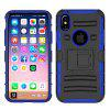 Funda Cover Water / Dirt / Shock Proof Full Body Funda Solid Color Hard PC para iPhone X - AZUL
