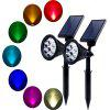 KWB LED Solar Lawn Lamp Outdoor RGB Garden Light 2PCS - RGB