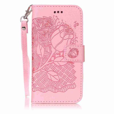 Double Embossed Rich Flowers PU TPU Phone Case para iPhone 6 / 6S