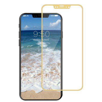 Naxtop Full Screen Protector Tempered Glass for iPhone X-Gold