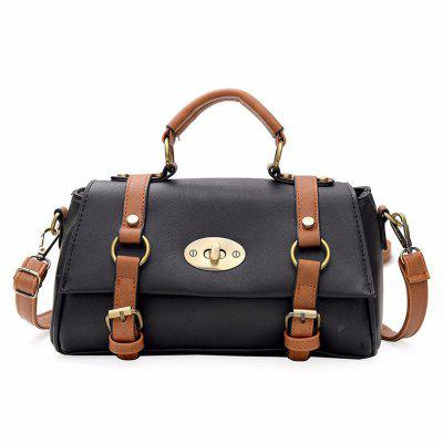 Buy BLACK New Buckle Shoulder Messenger Bag Fashion All Match Ladies Handbag for $29.85 in GearBest store