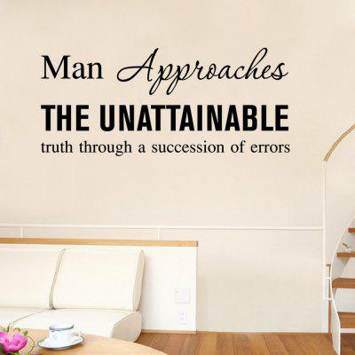 Adesivo para Parede - ''Man approaches the unattainable truth through a succession of errors''