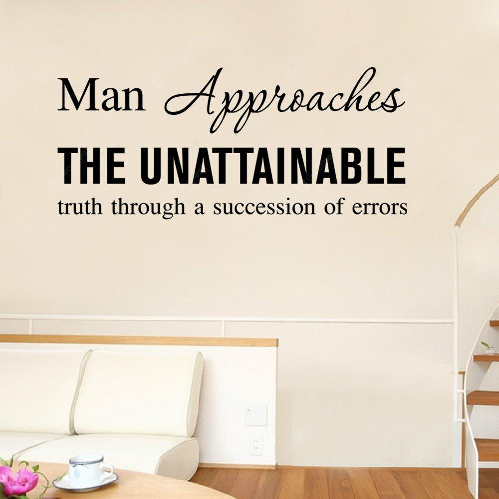 DSU Unattainable Truth Letters Wall Sticker DIY Home Decoration