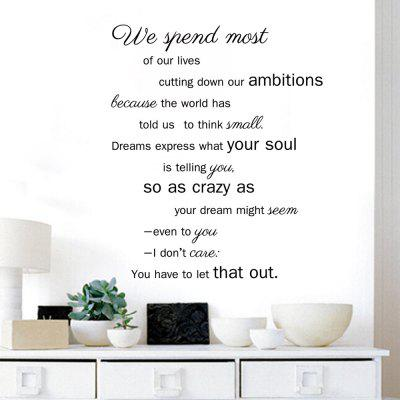 DSU Poem Dining Room Home Decoration Quote Wall Decal