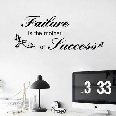 Adesivo de Parede - ''Failure is the mother of sucess''