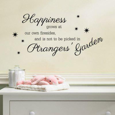 Adesivo de Parede - ''Happiness grows at our own firesides, and is not to be picked in ptrangers' garden''