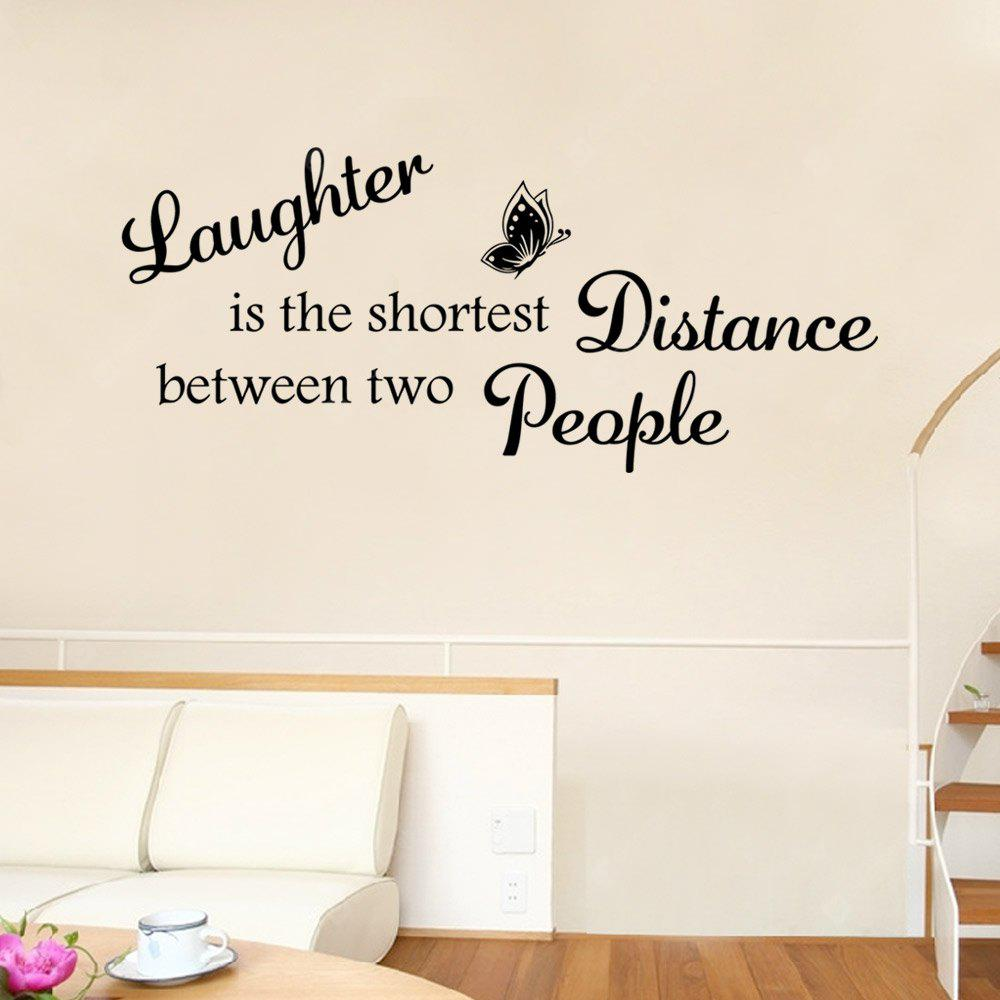 Adesivo de Parede - ''Laughter is the shortest distance between two people''