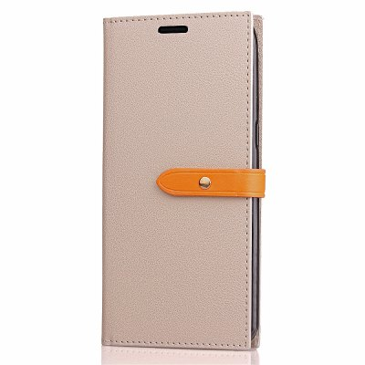Simple Hasp Card Lanyard Pu Leather Cover para iPhone X