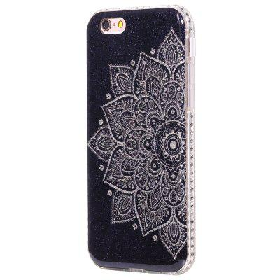 Wkae Flash Powder Mobile Phone Shell rodeado por strass para IPhone 6 / 6S