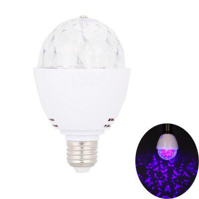 LedTey E27 LED Blacklight Bulb Ultrafioletowe obracanie UV Stage Light