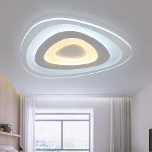Ever-Flower Modern Acrylic LED Flush Mount Ceiling Light with Max 32W Painted Finish