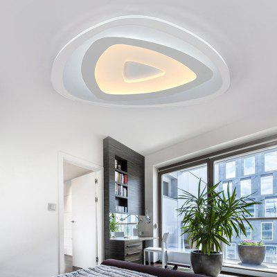 Купить со скидкой Ever-Flower Modern Acrylic LED Flush Mount Ceiling Light with Max 32W Painted Finish