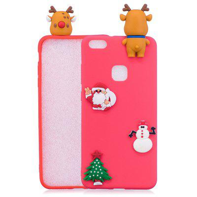 Christmas Tree Santa Claus Reindeer 3D Cartoon Animals Soft Silicone TPU Case for HUAWEI Honor P10 Lite
