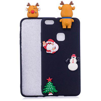 Árvore de chapéu de Natal Papai Noel Rena 3D Cartoon Animals Soft Silicone TPU Case para HUAWEI Honor P10 Lite