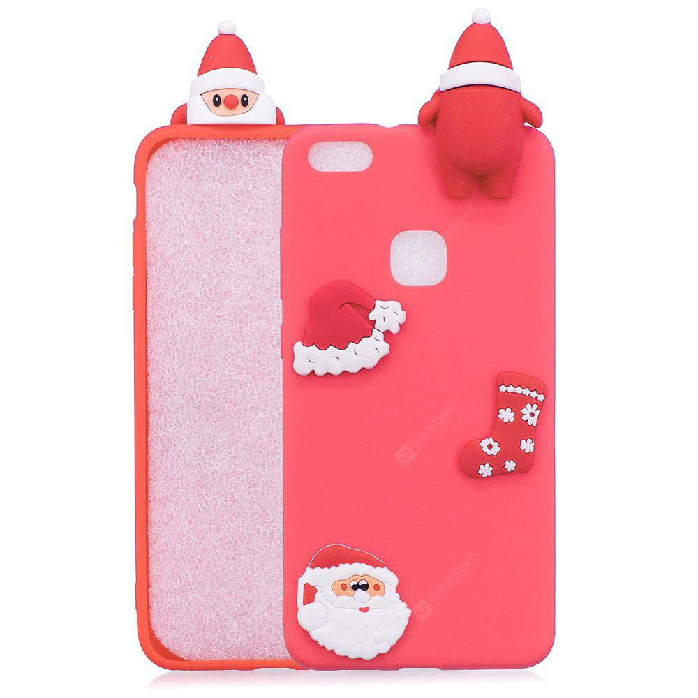 Christmas Hat Tree Santa Claus Reindeer 3D Cartoon Animals Soft Silicone TPU Case for HUAWEI Honor P10 Lite