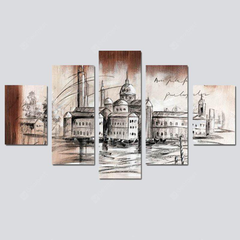 COLORMIX QiaoJiaoHuanYuan No Frame Canvas Architectural Palace Decoration Print
