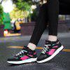 Round Toe High Top Casual Fashion Breathable Running Shoes Lace Up Hiking Outdoor Working Sneakers - BLACK AND RED
