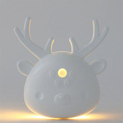 Lovely Cartoon Deer em forma de LED Sensor de corpo Night Light Light Lamp