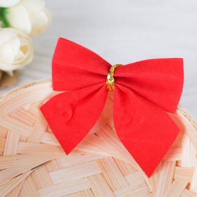 Buy 12pcs Pretty Bowknots Ornament Christmas Tree Festival Party Decoration RED for $1.65 in GearBest store
