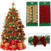 12pcs Pretty Bowknots Ornament Christmas Tree Festival Party Decoration - GOLDEN