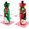 Christmas Decoration Wine Bottle Cover - RED