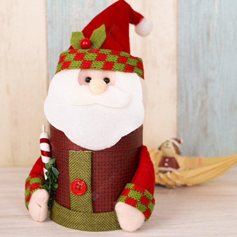 Lovely Christmas Decoration Box Santa Claus Deer Snowman Gift Candy Bottle