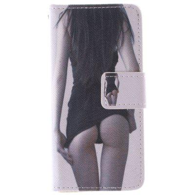 Sexy Girl PU + TPU Leather Wallet Cover Design com Stand e Card Slots Capa de fecho magnético para Iphone 5C