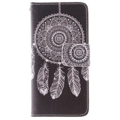 Dreamcatcher PU + TPU Leather Wallet Case Design com Stand e Card Slots Capa de fecho magnético para Iphone 5C