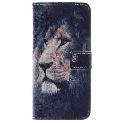 O Lion Pattern PU + TPU Leather Wallet Case Design com Stand e Slots de cartão Tampa de fecho magnético para Iphone 6 / 6S 4.7 Inch