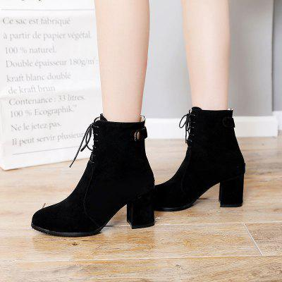 Womens Ankle Boots Simple Style Lace Up Design Cozy All Match BootsWomens Boots<br>Womens Ankle Boots Simple Style Lace Up Design Cozy All Match Boots<br><br>Boot Height: Ankle<br>Boot Tube Circumference: 27<br>Boot Tube Height: 13<br>Boot Type: Fashion Boots<br>Closure Type: Lace-Up<br>Gender: For Women<br>Heel Height: 7<br>Heel Height Range: Med(1.75-2.75)<br>Heel Type: Chunky Heel<br>Outsole Material: Rubber<br>Package Contents: 1 x Shoes?pair?<br>Pattern Type: Solid<br>Season: Spring/Fall, Winter<br>Toe Shape: Pointed Toe<br>Upper Material: PU<br>Weight: 1.2320kg