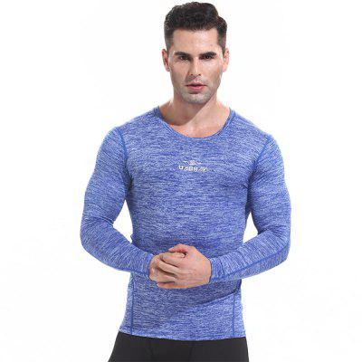 Men's Quick-drying Sports T Shirts Long Sleeve Fitness Gym Clothes