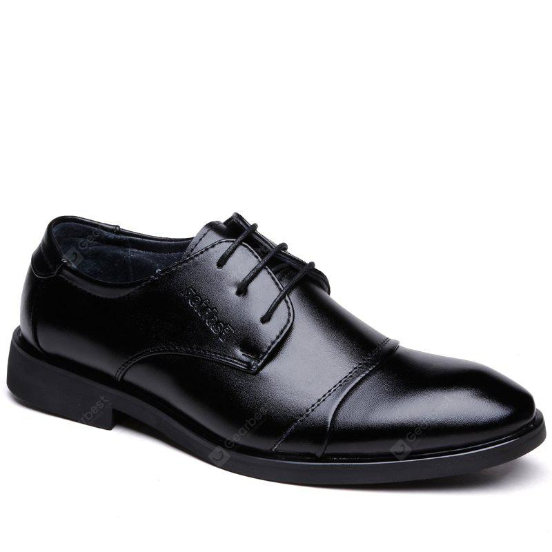 Men Casual Lace Up Leather Light Shoes