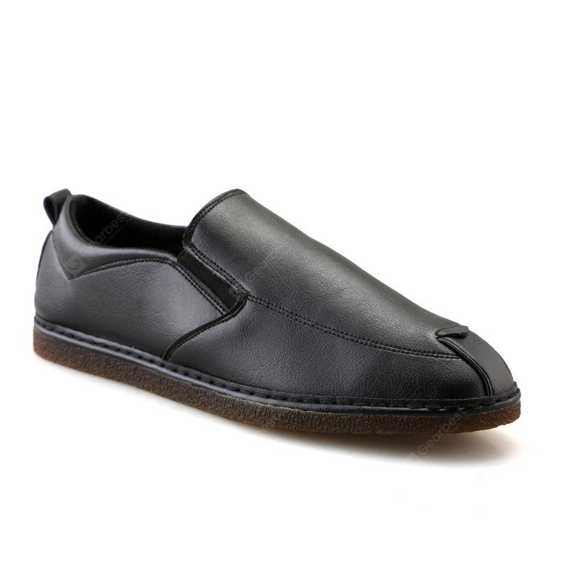 Casual Fashion Slip on Solid Leather Shoes