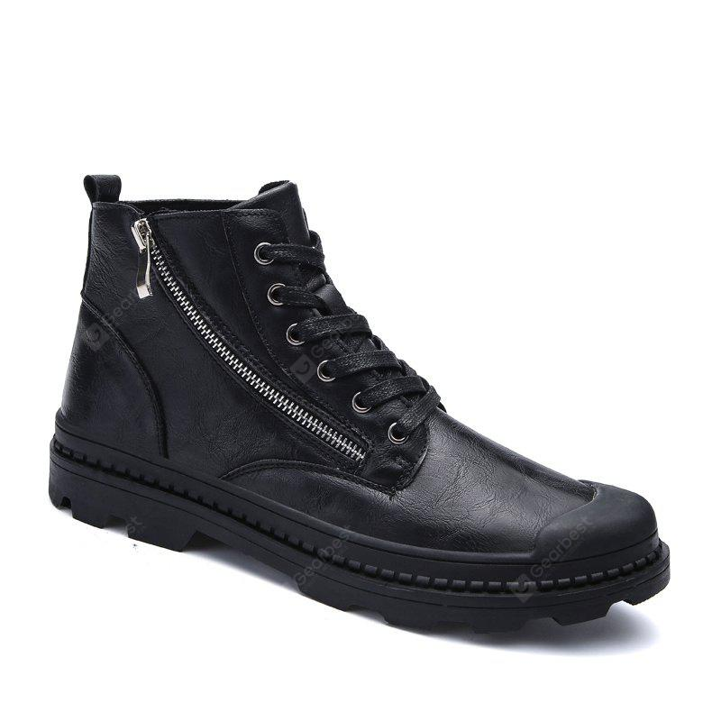 British Men Casual Middle Vamp Leather Shoes