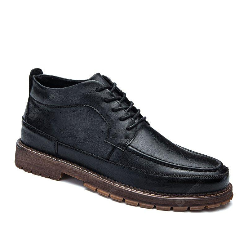 British Men Leisure Middle Vamp Leather Shoes