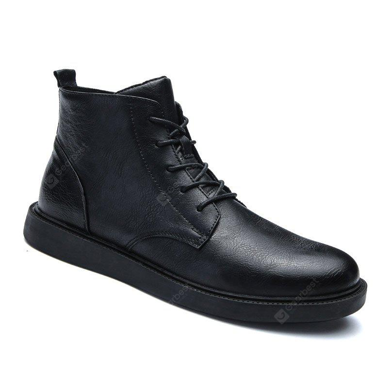 Men Middle Vamp British Casual Leather Shoes