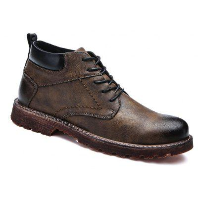 Men Middle Vamp British Leisure Leather Shoes