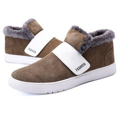 """Winter Warm Leather BootsMens Boots<br>Winter Warm Leather Boots<br><br>Boot Height: Ankle<br>Boot Type: Snow Boots<br>Closure Type: Slip-On<br>Embellishment: None<br>Gender: For Men<br>Heel Hight: Low(0.75""""-1.5"""")<br>Heel Type: Flat Heel<br>Lining Material: Plush<br>Outsole Material: Rubber<br>Package Contents: 1?Shoes(pair)<br>Pattern Type: Others<br>Season: Winter<br>Toe Shape: Round Toe<br>Upper Material: Cow Split<br>Weight: 1.0200kg"""